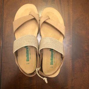 BIONATURA Women's Comfort Memory Foam Sandals Sz 7